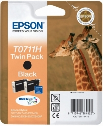 Epson T0711H, 2x 11,1ml, black, twin pack - original